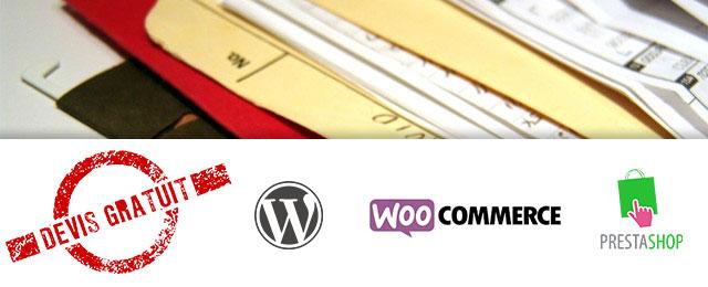 Devis Wordpress Woocommerce Prestashop