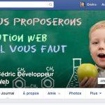 Page facebook pour suivre les news du développeur web